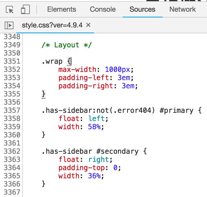 修改WordPress正文与侧边栏CSS的宽度