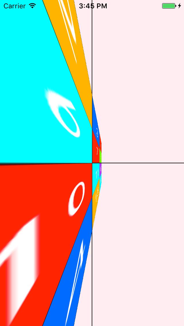 相机距离40时,绕Y轴的变形效果相机距离40时,绕Y轴的变形效果