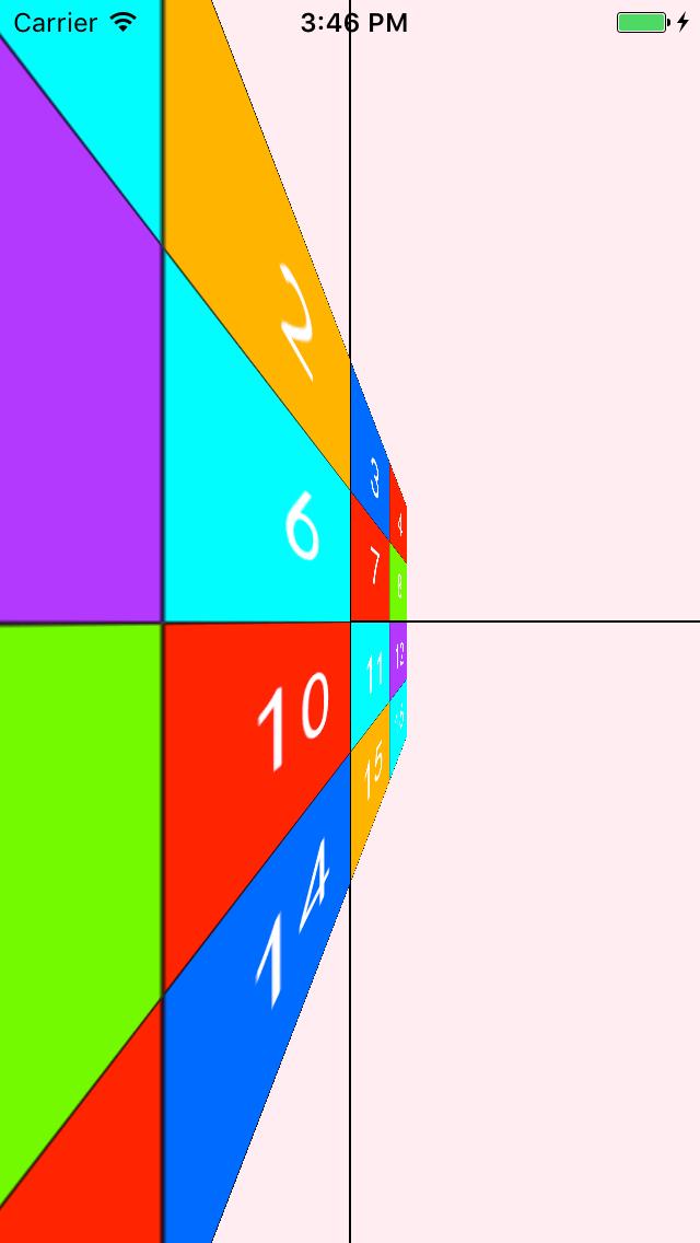 相机距离80时,绕Y轴的变形效果